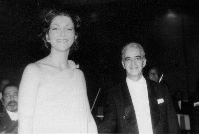 With Louis De Froment in Santiago, Chile 1978. After the performance of Saint-Saëns 2nd Piano Concerto
