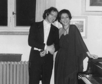 Vanya and Ivan Fischer in Gottwaldov, Czechoslovakia after the performance of Chopin 1st piano concerto in 1979